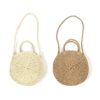 2019 The new style straw woven ladies' bag summer beach resort portable bag with one shoulder bag