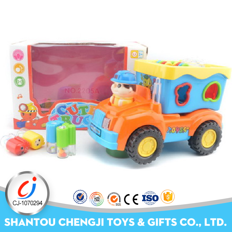 High quality cartoon vehicle plastic battery operated toy race