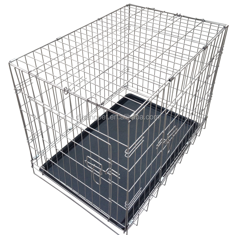 Wholesale Dog Cages Double Door Metal Dog Crate