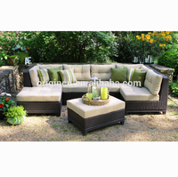 High end rattan modular sectional sofa set outdoor luxury classic italian style furniture