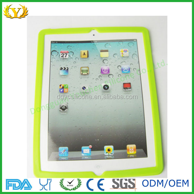 Silicone phone case for ipad/silicone cover for ipad