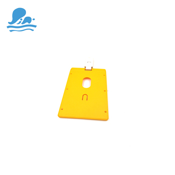 Pvc rigido di plastica trasparente cassa di carta id badge holder carta di lavoro