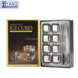 4PCS Whiskey Rocks,Stainless Steel Chilling Reusable Ice Cubes