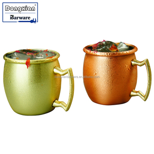 Mini Moscow Mule Copper Mug 2 oz Small Cheap Price Copper Plated Stainless Steel Mug shot glass