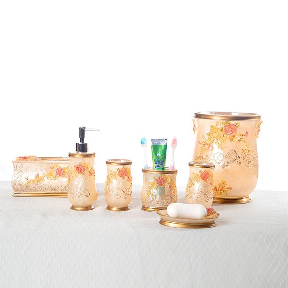 LINA-Bathroom set five-piece resin bath seven sets of wedding presents six-bathroom set , b , 7