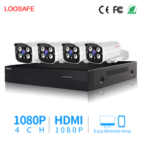 Home Security HD 1080P AHD CCTV Camera System 4 Channel Video DVR Kit