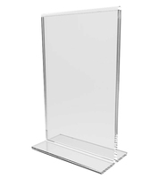 T Shape Card Holder Vertical A4 A5 Clear Acrylic Poster Paper Holder