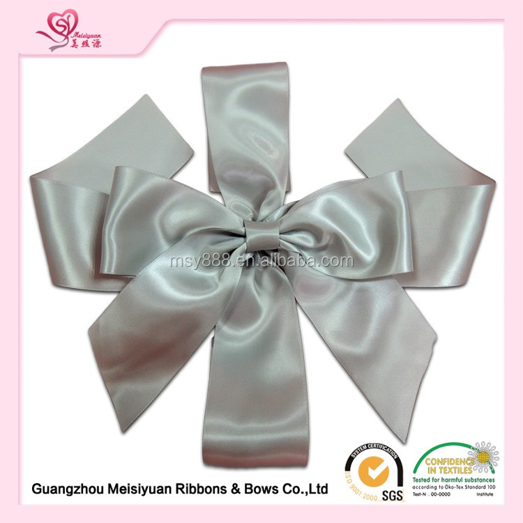 China wholesales wedding car ribbons and bows craft ribbon bow big ribbon bows
