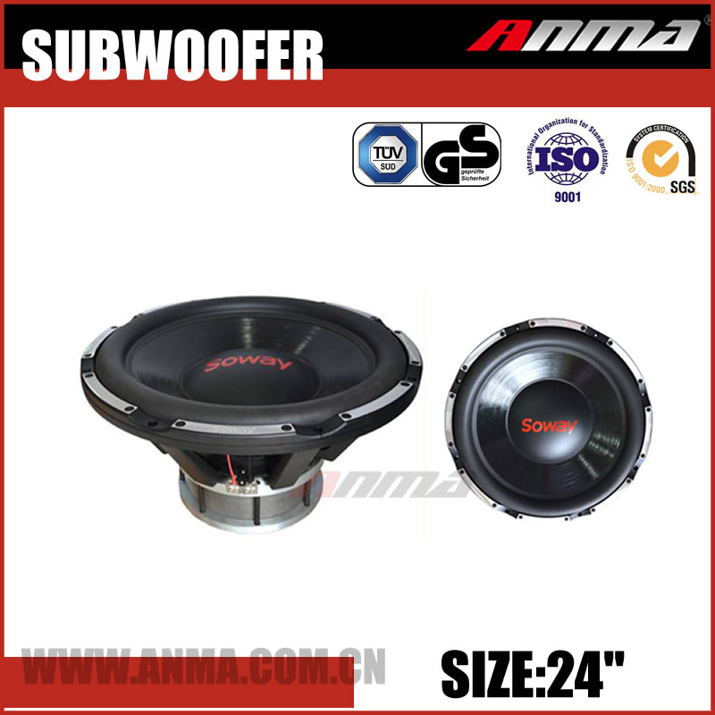"24"" inch car subwoofer high quality powered competition 5000W car speakers subwoofer"