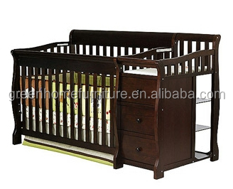 4 in 1 baby convertible crib with changer