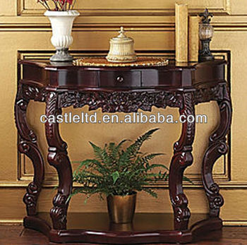 Stocking Hand Carved Side/end Table,Solid Wood Curved Antique Console Table    Buy Antique Wooden Console Table,Wood Carved Console Table,Tall Console  ...