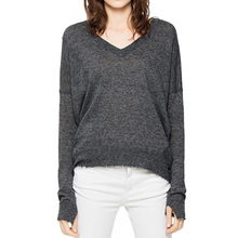 Nuovo <span class=keywords><strong>Stile</strong></span> Custom Donna Scollo A V in Cashmere <span class=keywords><strong>100</strong></span>% Maglione