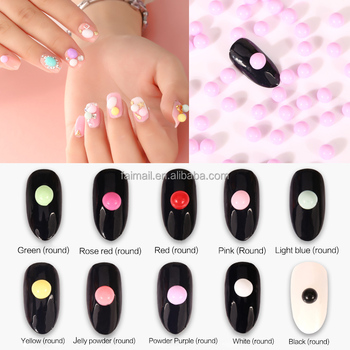 Ovale En Ronde Snoep Parels 3d Nail Art Sticker Buy Nail Sticker