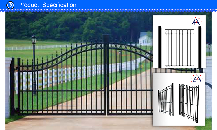 Decorative Metal Aluminium Fence Panel For Garden And PooL Extrusion Profile