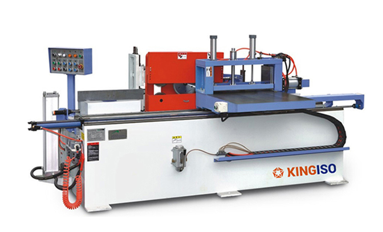 Automatic finger joint shaper with automatical gluing device woodworking machine