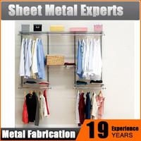 Low cost modern design bedroom furniture shelves storage unit metal wardrobe