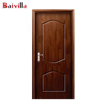 House Door Model Dark Wood Front Hinges