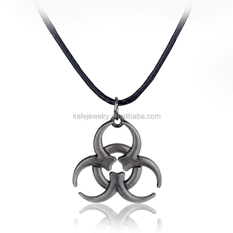 Resident Evil Series Biohazard Symbol Pendant Necklace фото