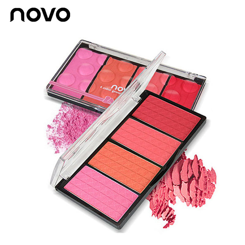Contouring Beauty Cosmetics Face Makeup Palette Matte Color Blusher 4 Colors Cheek Powder Blush Bronzer