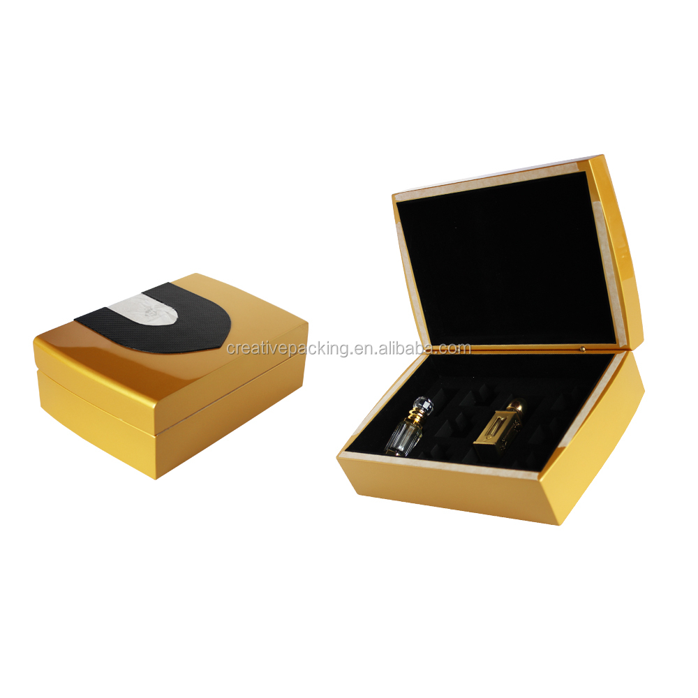Custom Logo Hot Stamping Luxury Wooden Gift Package Perfume Box