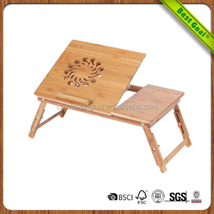 Folding mini wooden laptop desk