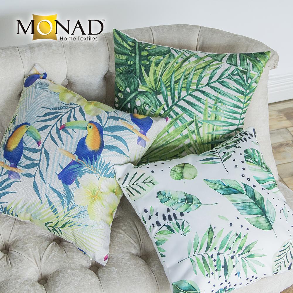 Monad Large Sofa Set Pillow Case Cushion Covers Teal 60 X