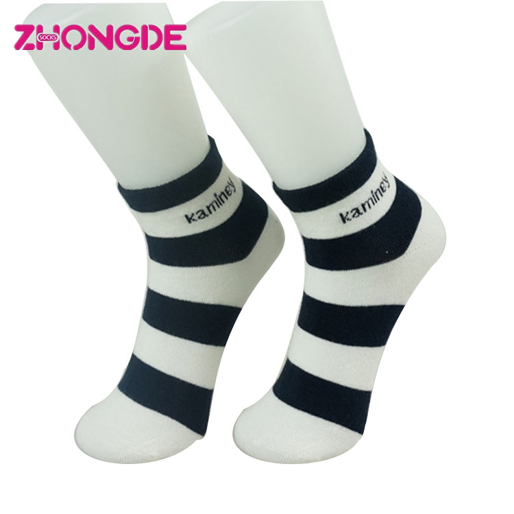 Eco-Friendly design white grey stripe adult low cut socks size 6 to 12