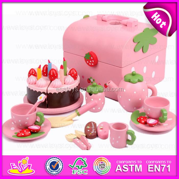 Sensational New Wooden Cake Play Toys For Kids Popular Wooden Toy Birthday Funny Birthday Cards Online Drosicarndamsfinfo
