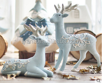 Creative Gifts Boreal Europe Style Living Room Decoration Ideas Resin Handicraft Elk Articles In The
