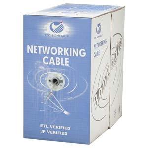 Arrowmounts AM-Cat6-Bulk-001GN 1000' Cat 6 Cat6 Stranded Wire Bulk Ethernet LAN Network Cable Green Cm