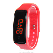 2015 New Fashion Touch Screen LED Bracelet Digital Watches For Men&Ladies&Child Clock Womens Wrist Watch Sports Led Watch