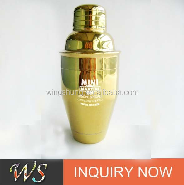 Gold Plated Stainless Steel Cocktail Shaker