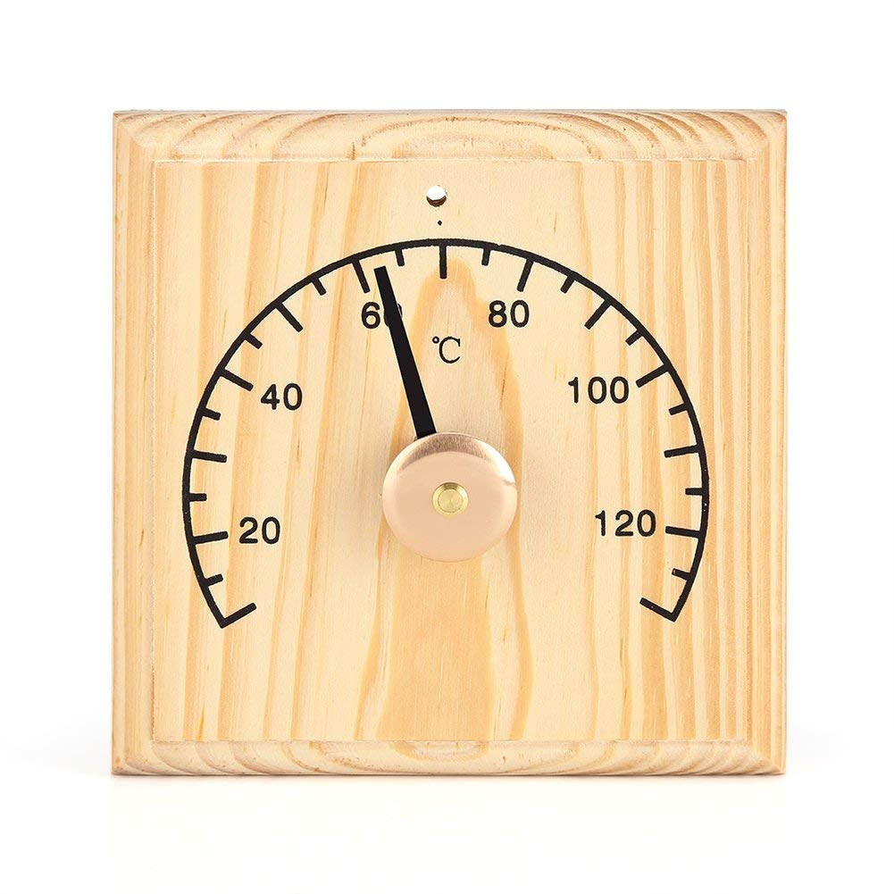 Hygrothermograph Sauna Equipment 20-140℃ Wooden Double Dial Thermometer Homyl Sauna Room Thermometer Hygrometer
