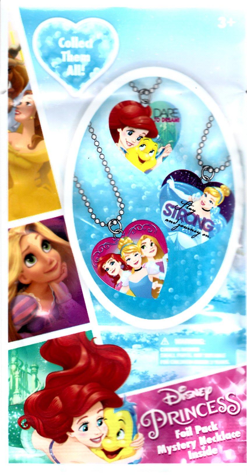 Disney Princess Mystery Necklace Blind Foil Pack