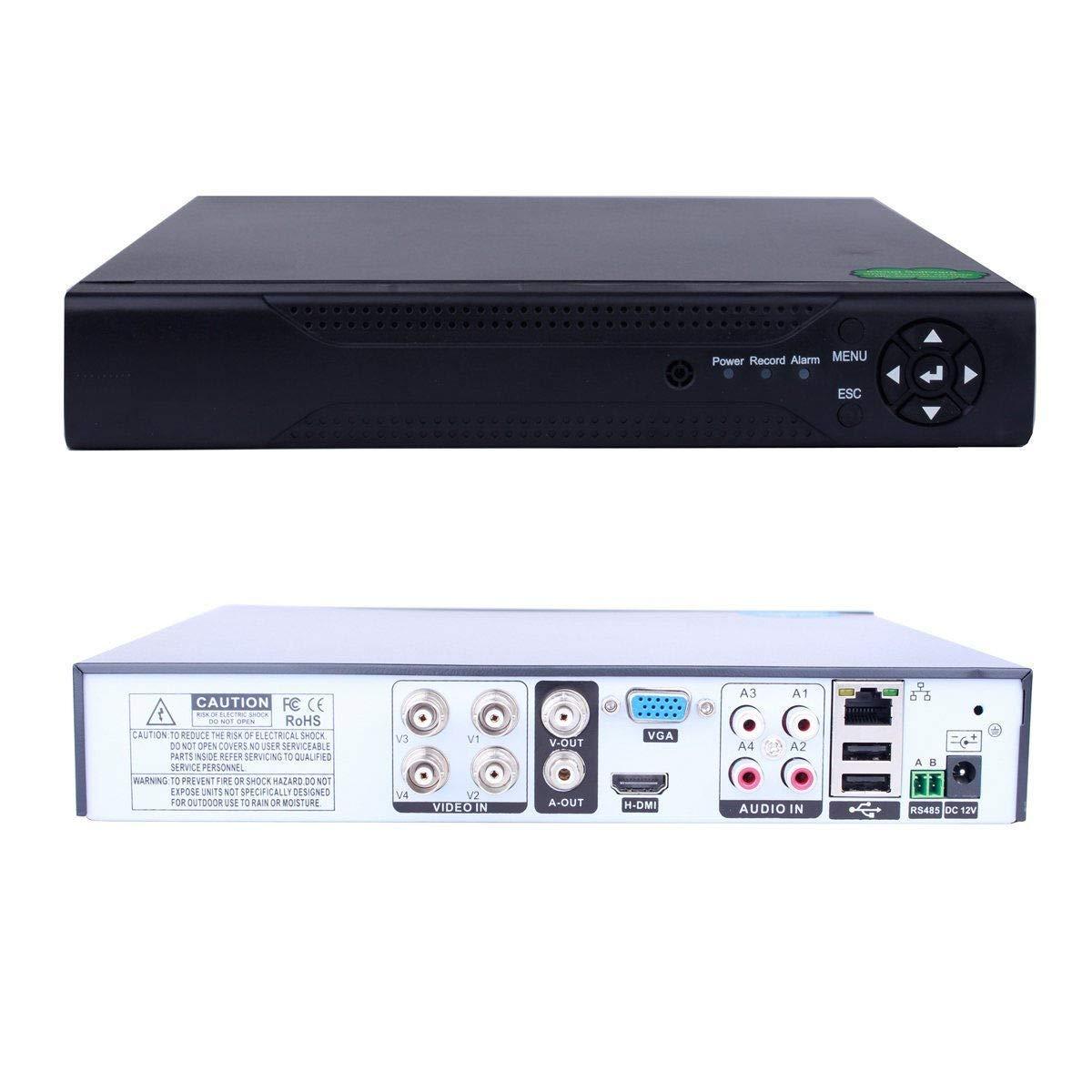 FidgetFidget DVR Recorde 6in1 4CH H.264 HDMI DVR/NVR/AHD/TVI/CVI/XVI IP Security CCTV Camera