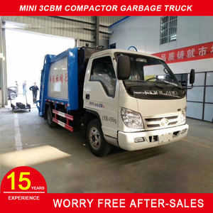 FORLAND 4x2 mini garbage compactor/rubbish collector multi function garbage truck capacity 3 cbm