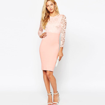 c7ee6b4c694b Short Tight Dress Pink Long Sleeve Pink Dress Pink Short - Buy Pink ...