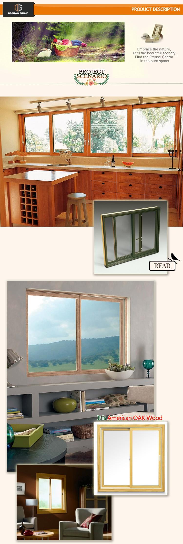 Pas Cher Bois En Aluminium Vertical Fenêtre Coulissante De La Chine