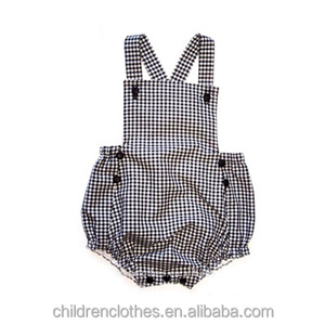 2018 Wholesale Boutique Gingham Baby Romper Simple Design Children Clothes Unique Design Top 100 Clothes