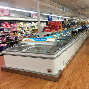 Commercial Frozen Meat Display Chest Freezer For Seafood