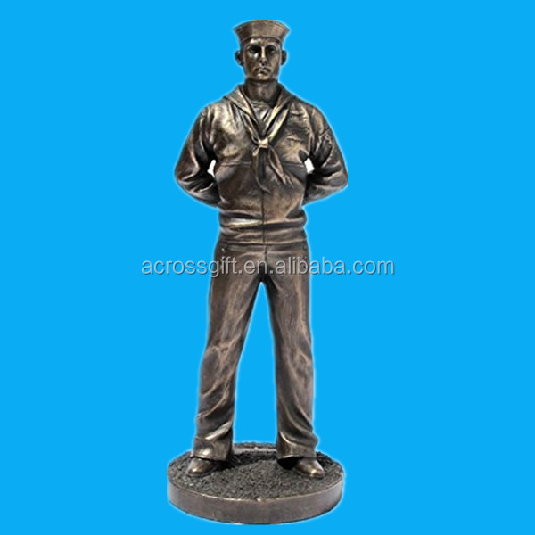 Navy Crackerjack Bronze Cold Cast Resin Statue, 7-Inch military figurine collectible