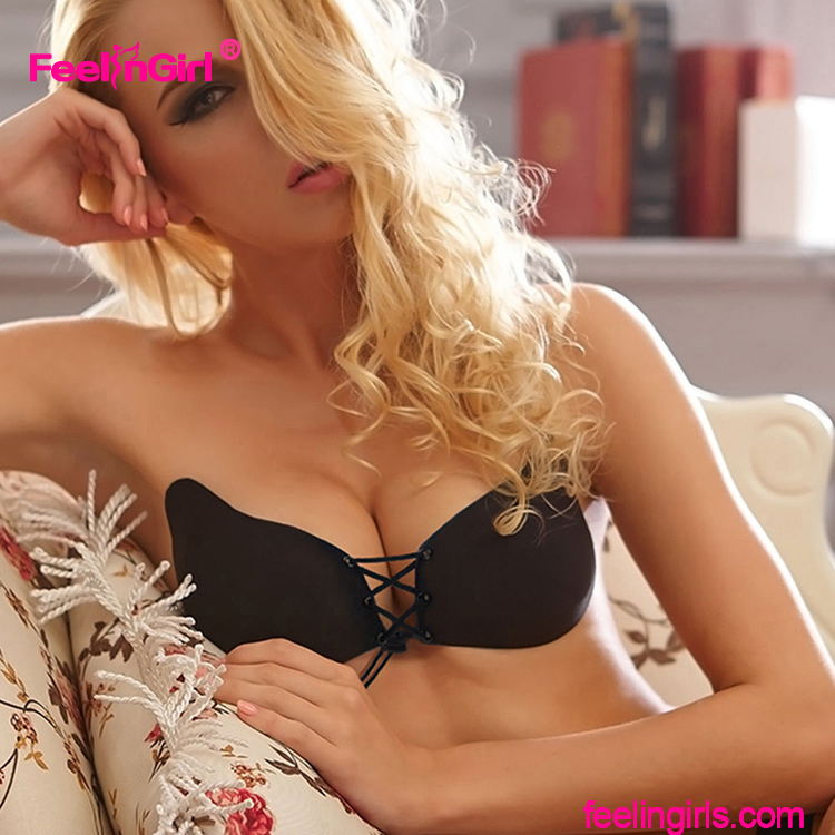 Wholesale New Style Self Adhesive Sexy Strapless Invisible Bra Silicon