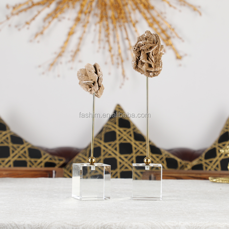Crystal Tabletop Decor Natural Stone Home Decoration Modern Objects
