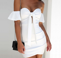 LYQ005 spring summer 2019 women's explosions sexy strapless straps tube top bag hip short dress