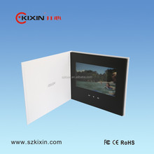 "4.3""/5""/7"" LCD video brochure video greeting card from Kixin"