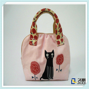 cute cat cotton canvas tote bag with handle buy cotton