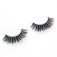 Invisible band 3D mink eyelashes and custom package mink lash/eyelashes for sale