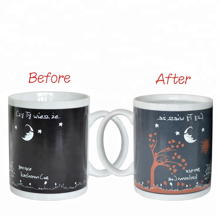 Hot items products custom magic sublimation coffee color change mugs