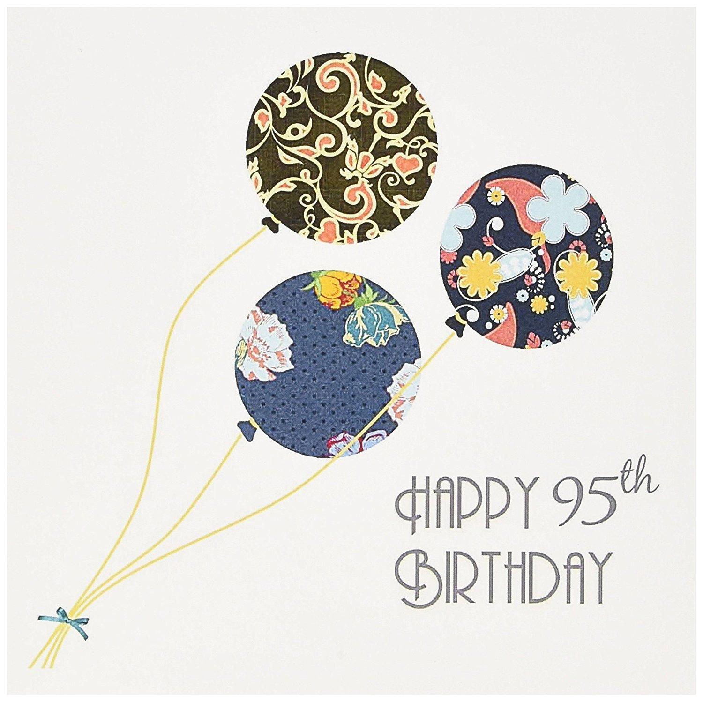 Buy 3drose Happy 95th Birthday Modern Stylish Floral Balloons