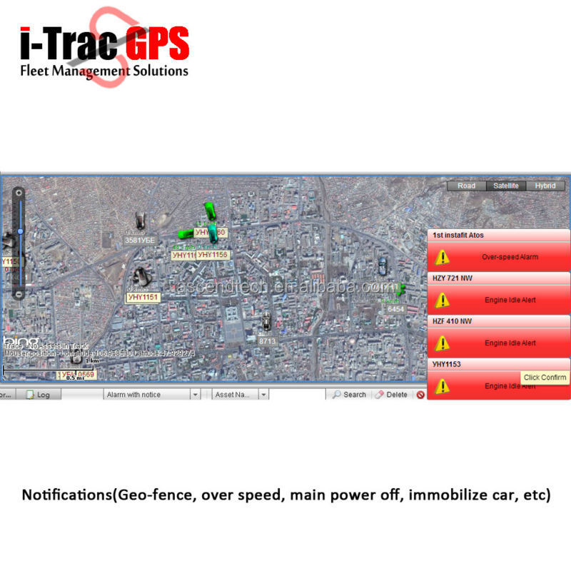 AVL Tracking Software for car tracker and personal locator